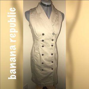 BANANA REPUBLIC khaki sleeveless dress